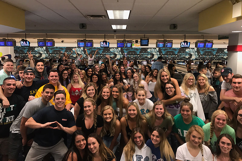 Students raise money for hurricane relief through bowling