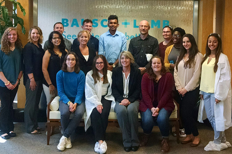 Students, faculty and staff tour Bausch & Lomb