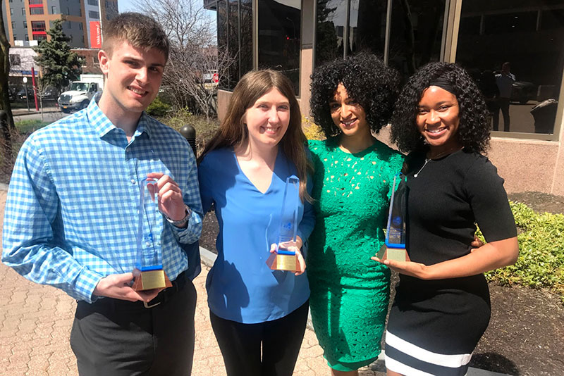 Students with New York State Broadcasters Association Excellence in Broadcasting Awards