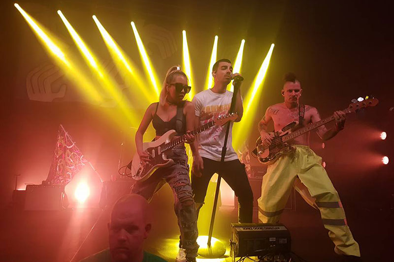 DNCE performing at OzFest