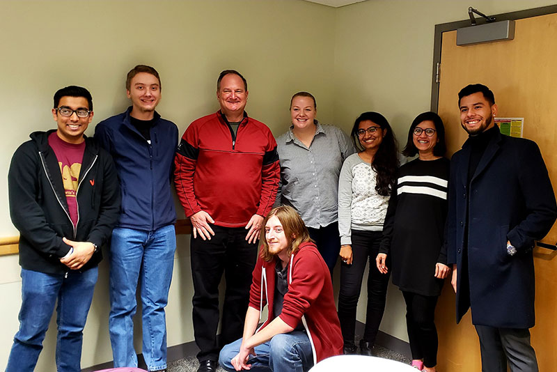 Microsoft's David Pearlman meets with students