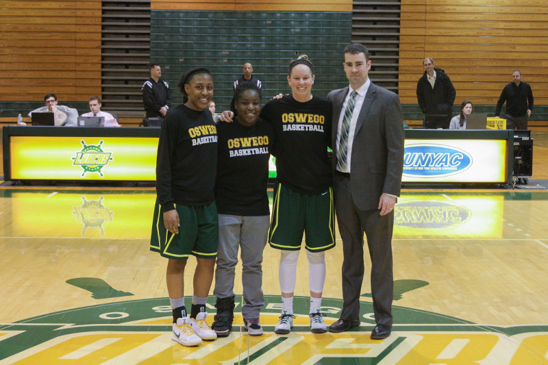 Women's basketball players honored on Senior Day
