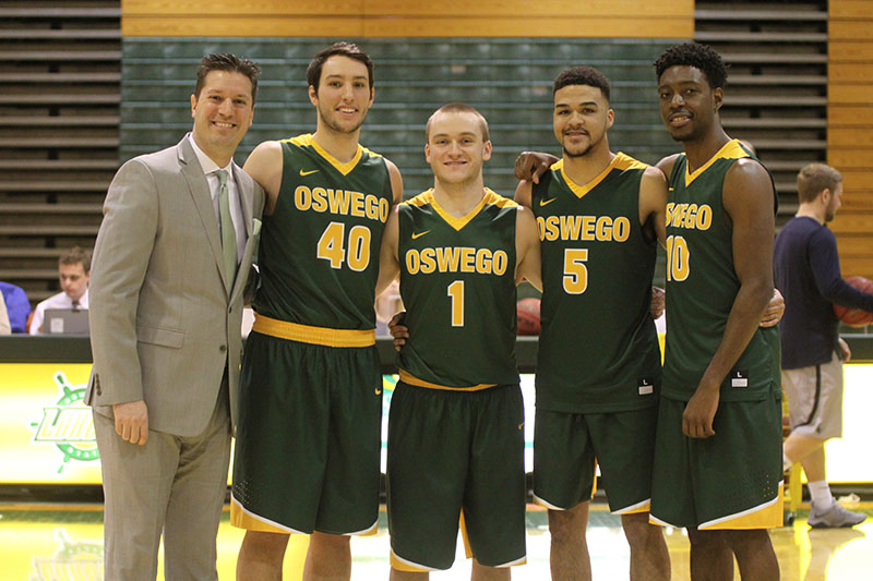 Men's basketball players honored on Senior Day
