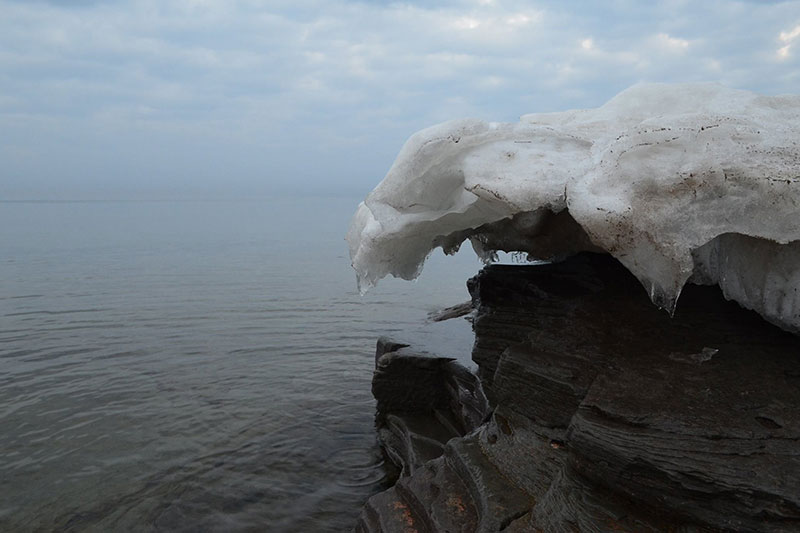 Ice formation by Lake Ontario