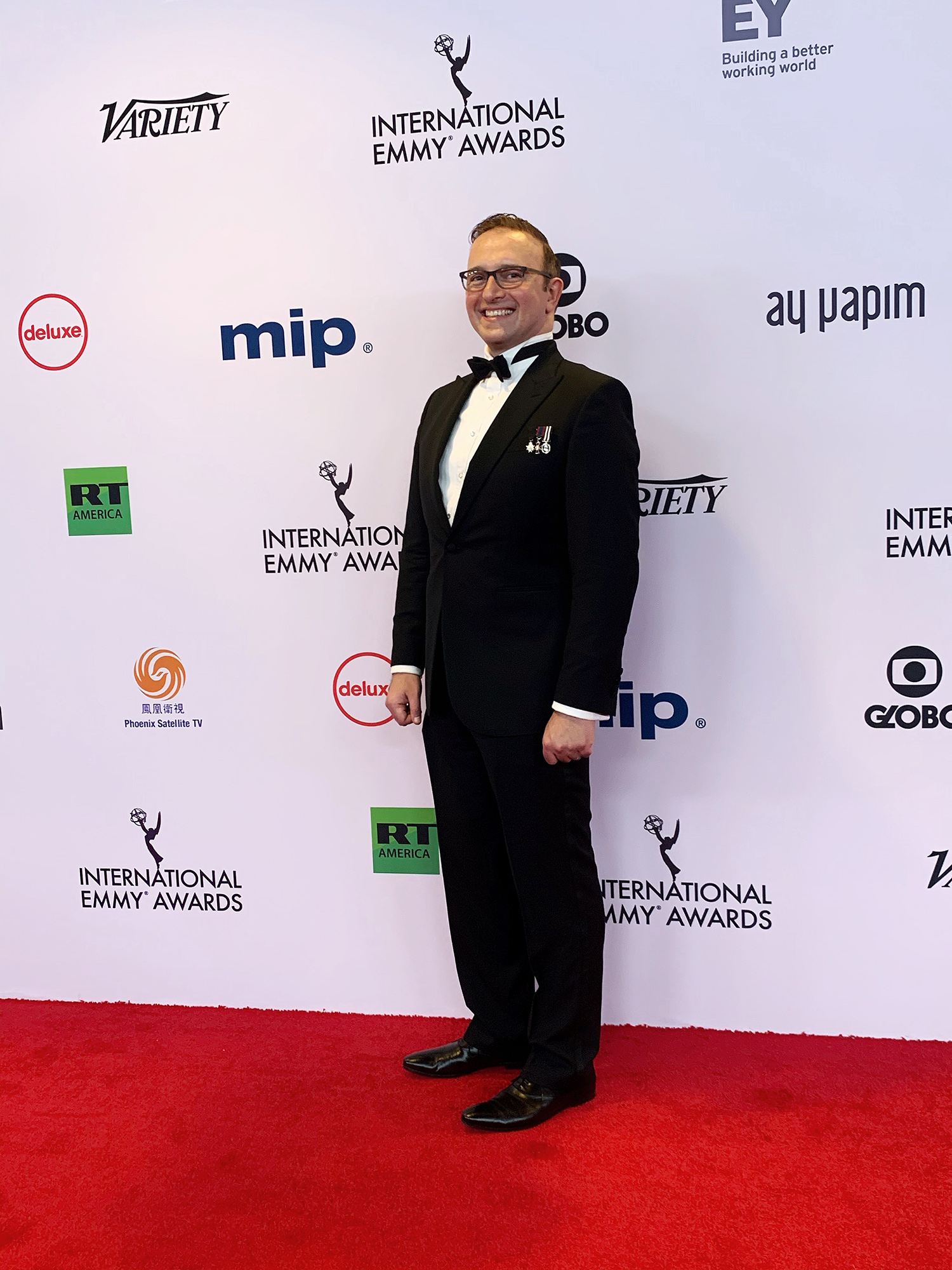 School of Business faculty member Dr. Stathis Kefallonitis attended the 47th International Emmy Awards ceremony