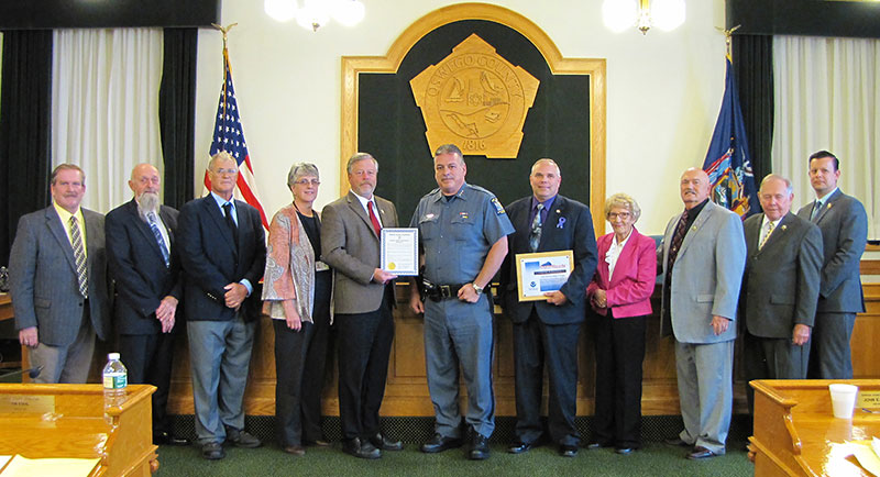 County Legislature commends University Police for StormReady designation