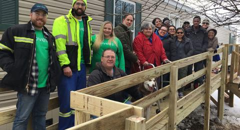 Students, Novelis employees helped build a ramp for ARISE