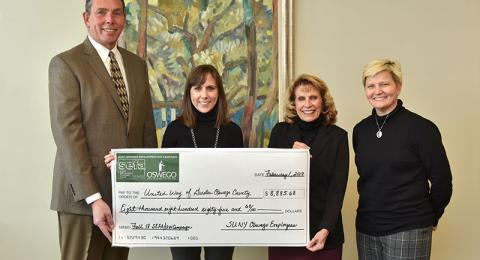 College presents check in support of United Way