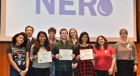 Winners and organizers of inaugural Grand Challenges Makeathon