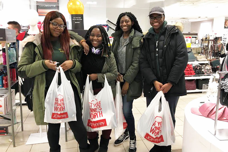 Students happy with Suit Up formalwear bargains