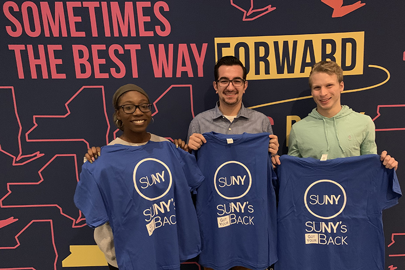 Student Association leaders support SUNY's Got Your Back campaign