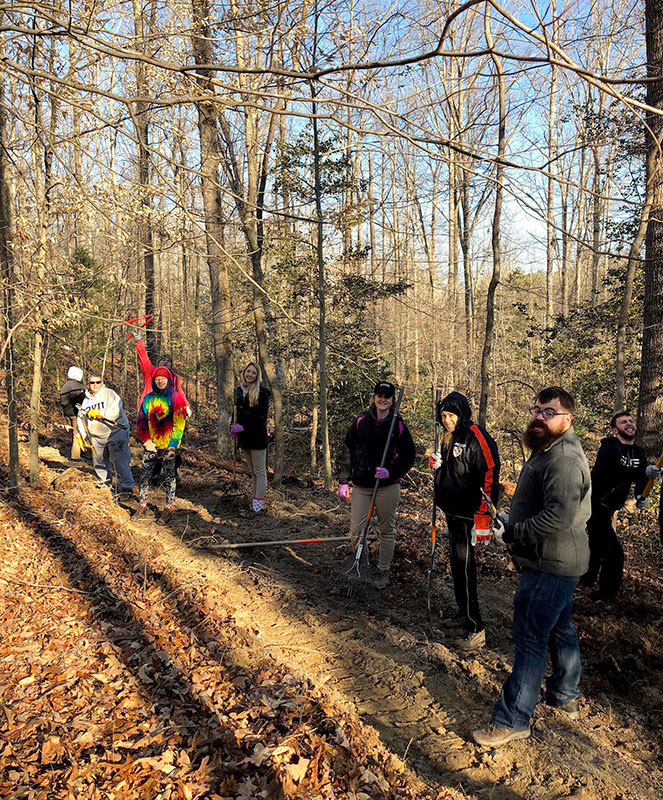 Students help clear hiking trails