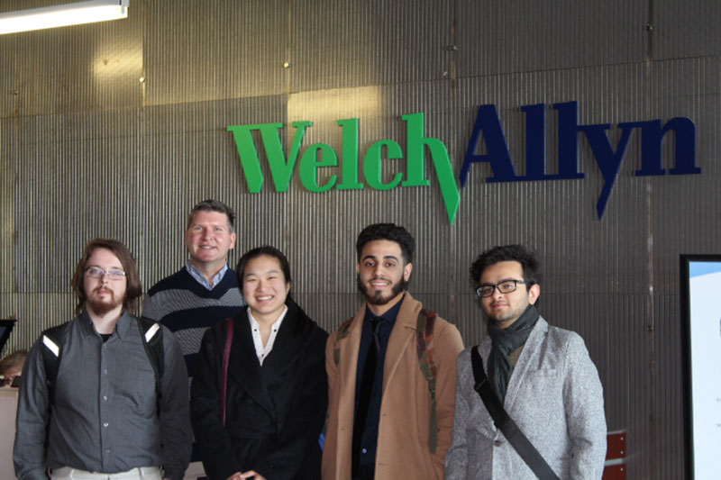 Students tour Welch Allyn