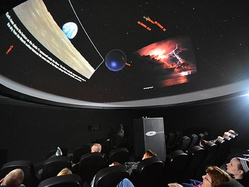 Planetarium show in Shineman Center