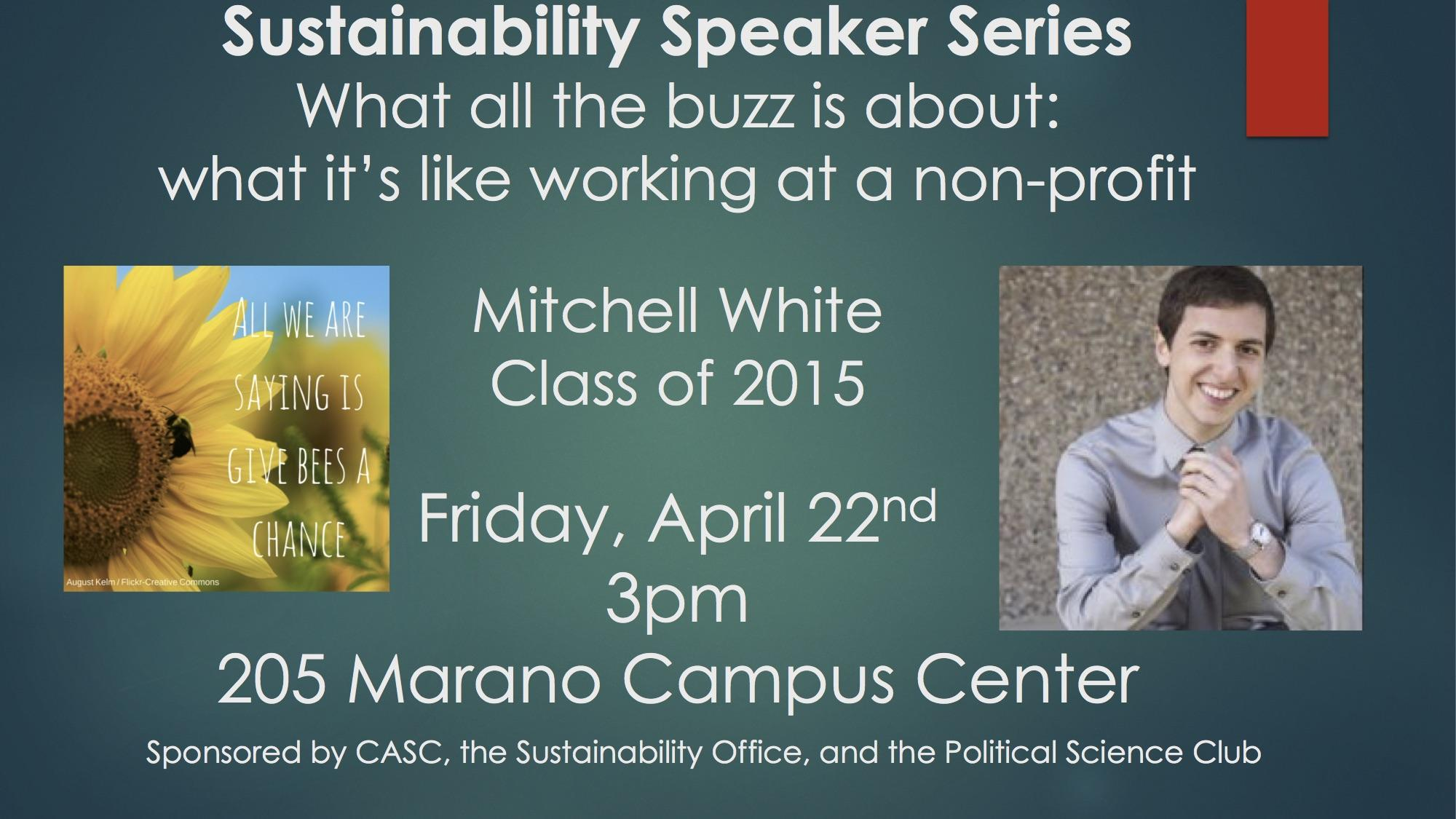 Mitch White Sustainability Speaker Series