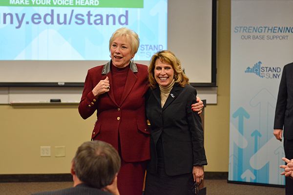 President Stanley with the SUNY Chancellor