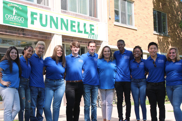 Funnelle Hall Resident Student Staff group photo