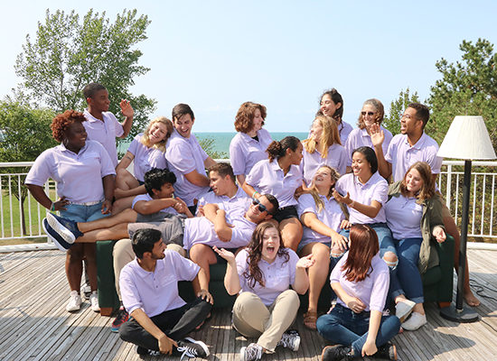 Johnson Hall Resident Student Staff group photo. Showing our goofy side!