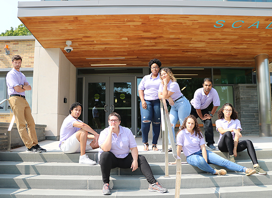 Scales Hall Resident Student Staff group photo. Showing our silly side (or serious, you decide!) ;)
