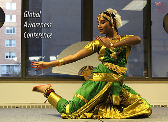 Resident from India performs traditional dance at the Hart Hall Global Awareness Conference in November.