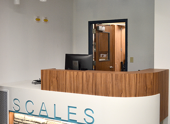 scales Hall front desk