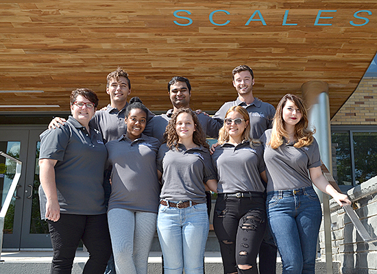 Scalles Hall staff for 2017-2018 academic year.