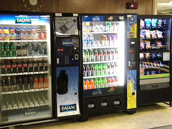 Funnelle Hall has several vending machines