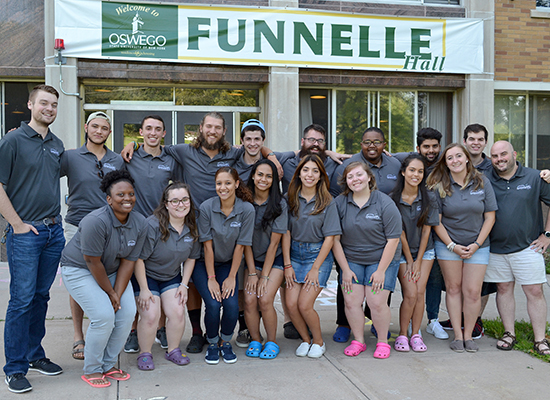 We are Funnelle Hall staff.