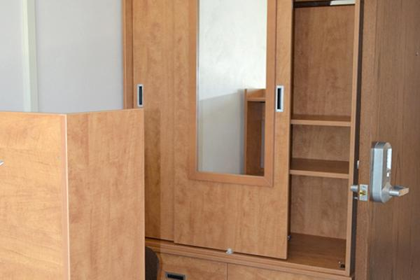 Scales Hall Armoire and door keypad