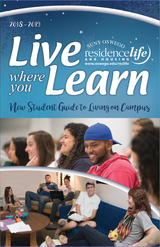 2018-2019 Live where you Learn booklet :: New Student Guide for living on campus IMAGE opens link