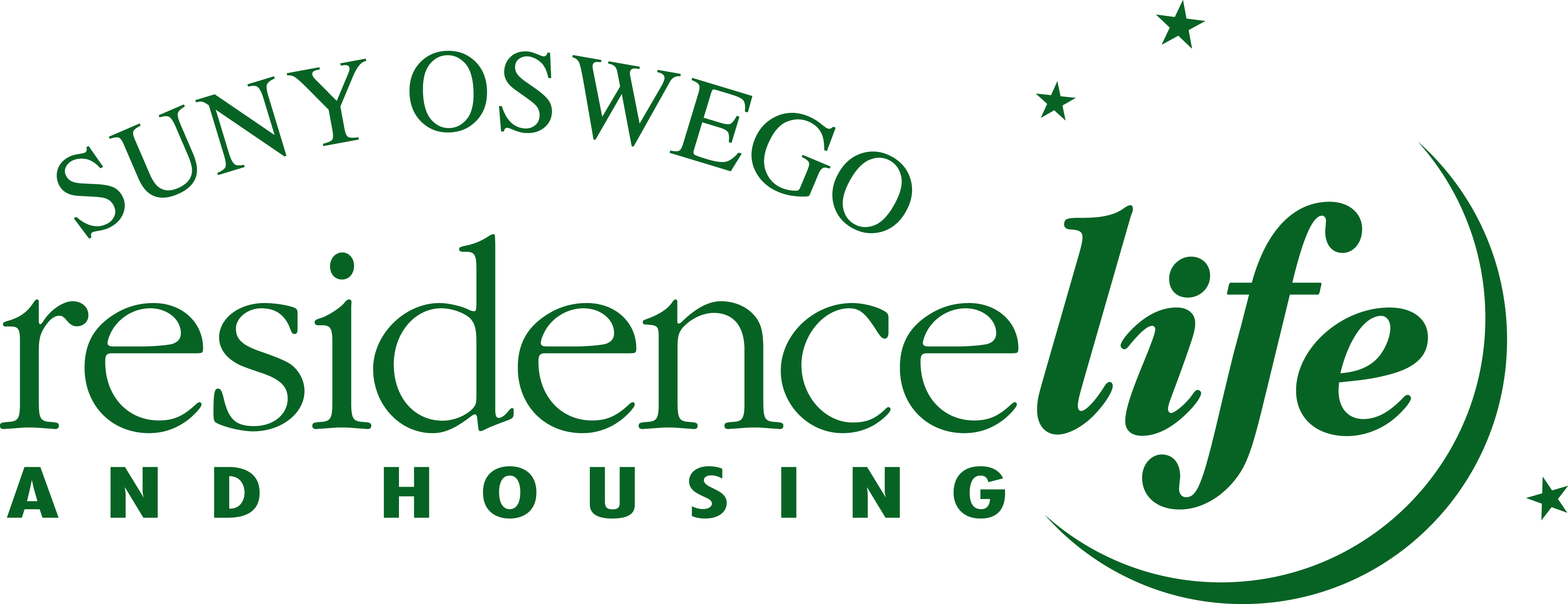 SUNY Oswego Residence Life and Housing logo link to home