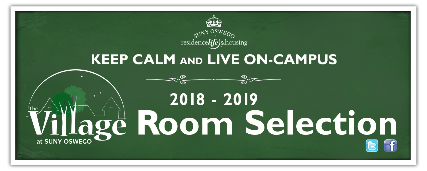 Keep Calm and Live in the Village! 2018-2019 Village Room Selection