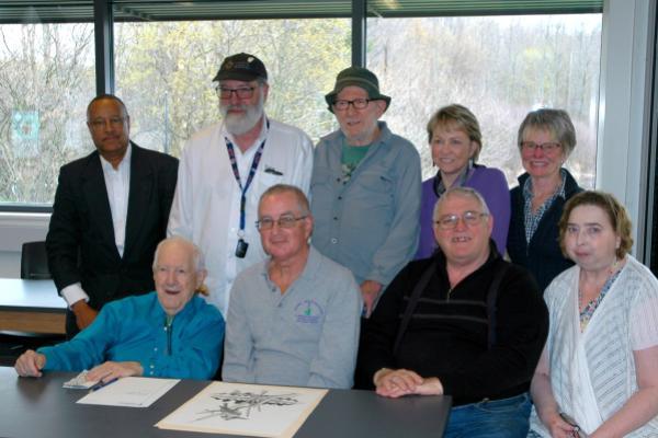 RCA board members with Rice Creek Field Station founder John Weeks