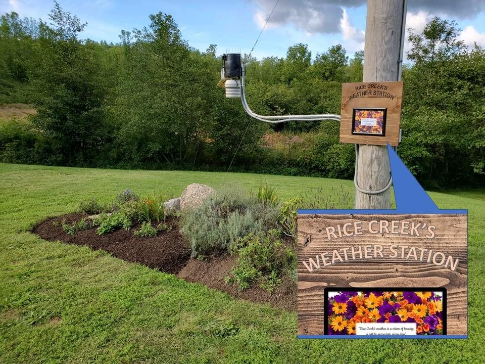 weather station and sign honoring late RCFS Director Lucina Hernandez