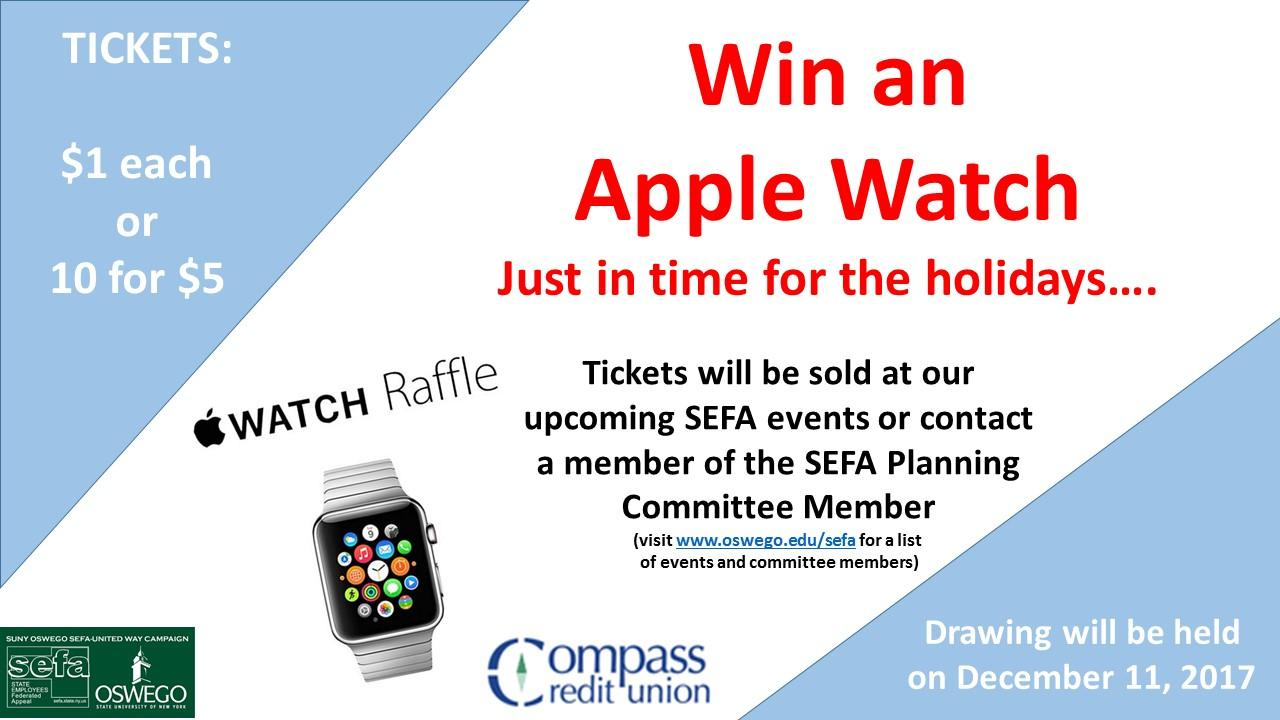 Win an Apple Watch - just in time for the holidays!
