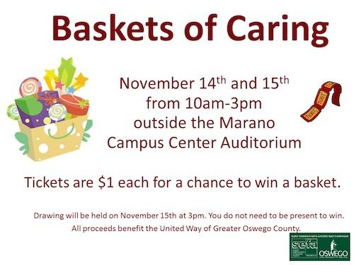 Baskets of Caring - Wed. 11/14 & Thurs. 11/15 from 10am-3pm