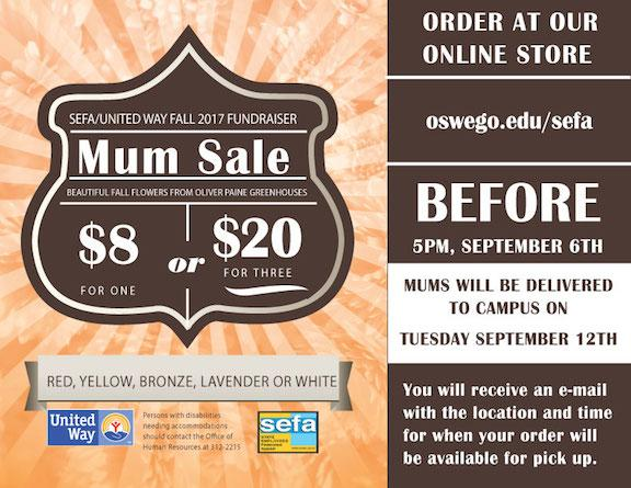SEFA Fall Mum Sale 2017 - Find out how to order them!