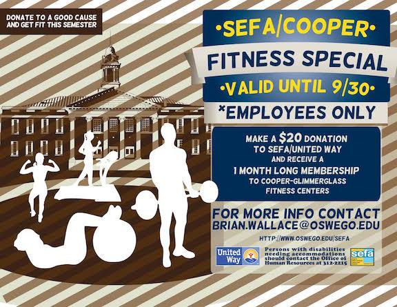 SEFA Cooper Fitness Center Special for Employees