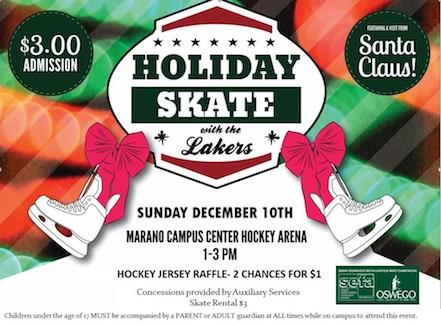 Holiday Skate with the Lakers - Sunday, Dec. 10th from 1-3pm