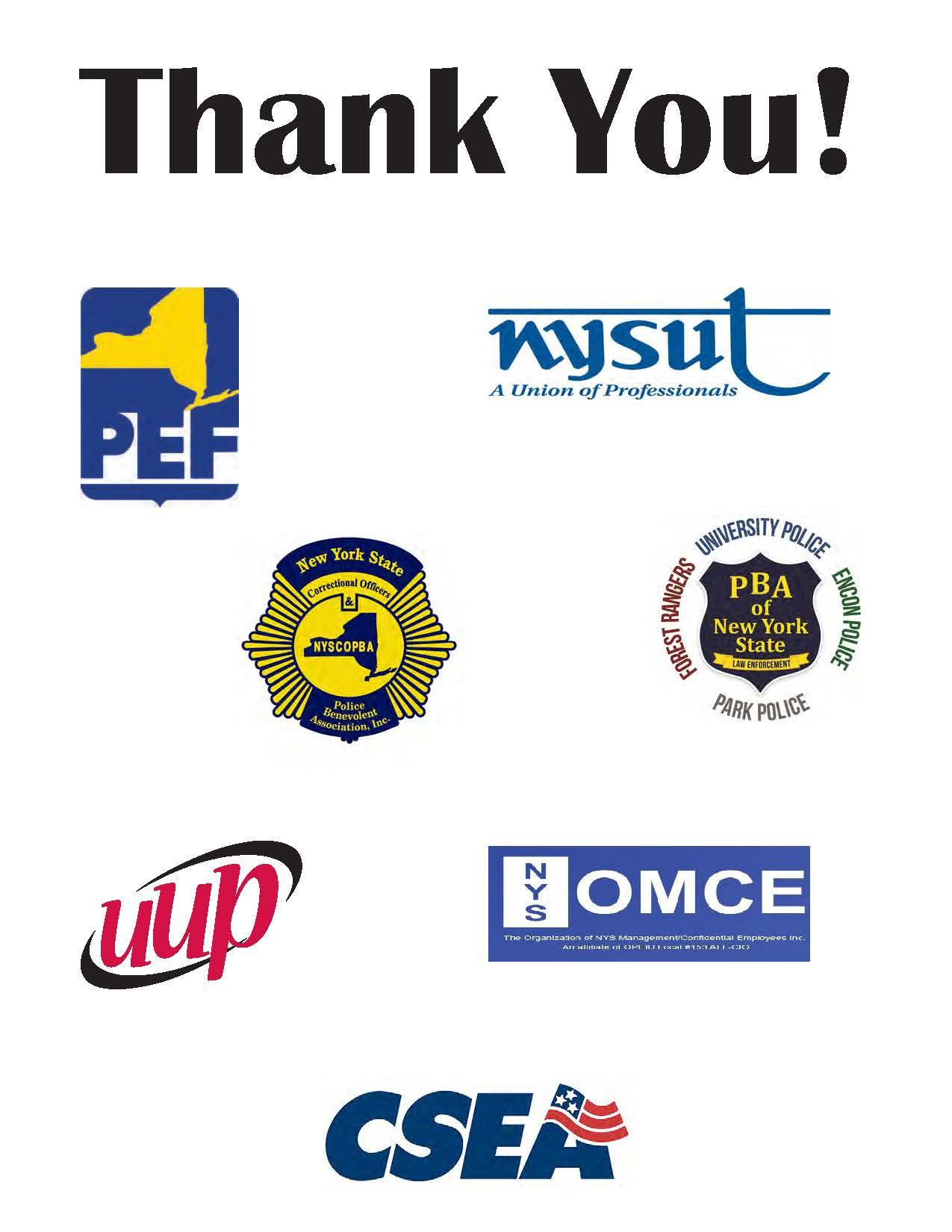 Campus Unions Say Thank You for Your Contribution!