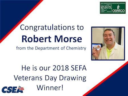 SEFA Veterans Day Prize Winner - Robert Morse