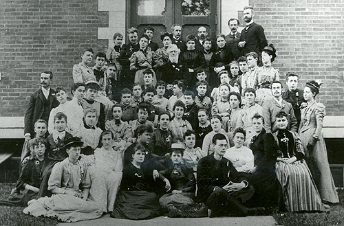 Faculty, students from 1891 Oswego Normal School