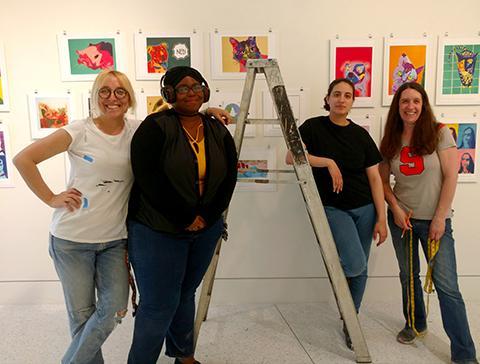 Graduate students coordinate My Hometown Project exhibition of schoolchildren