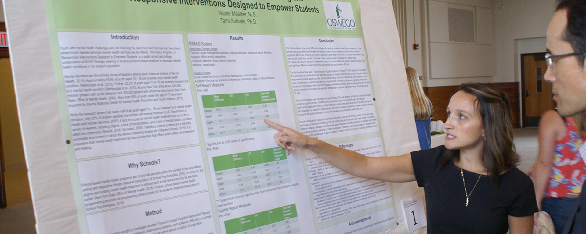 Student presents school-based research