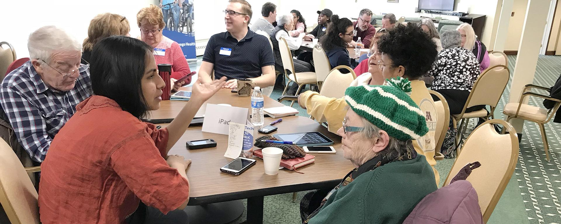 Oswego students helps local senior citizens with technology