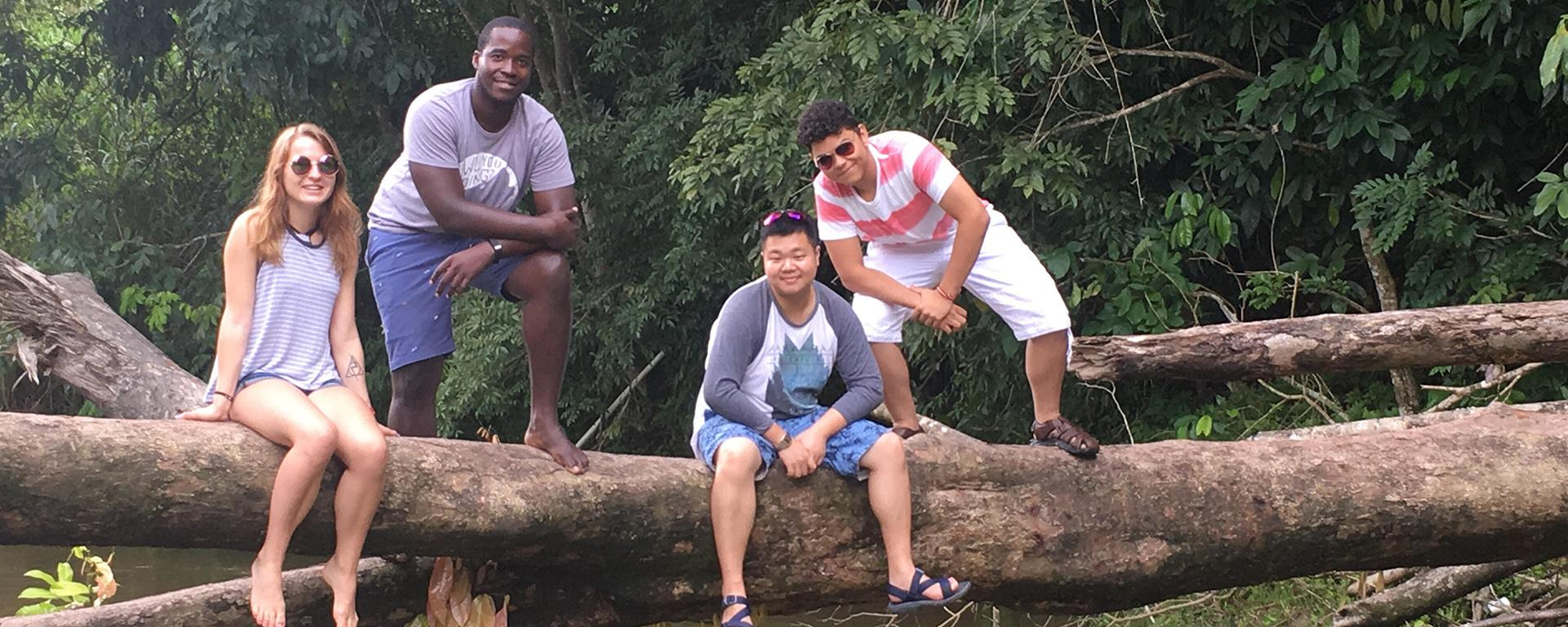 Student engineers pause during Trinidad and Tobago trip