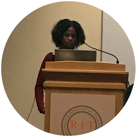Christel Solomon presenting at NYSSA Conference