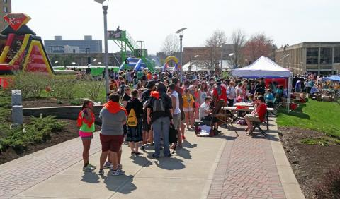 The second edition of OzFest on the last day of classes, featured food, games and other free fun in the quad through the afternoon, culminating in a concert headlined by chart-topper Flo Rida in the Marano Campus Center arena.