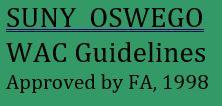suny oswego wac guidelines approved by fa, 1998
